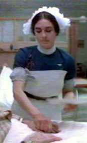 Sister McFee played by Eleanor Bron, 'The National Health', UK 1973.