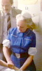 Sister Mac, who wore a different uniform to the other sisters, Just Another Day, UK 1985.