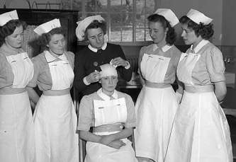 The varied duties of a Student Nurse, Wales 1955.
