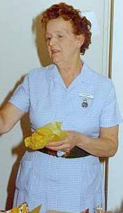 This nurse was still wearing the 'National' when she retired in the mid-1990s