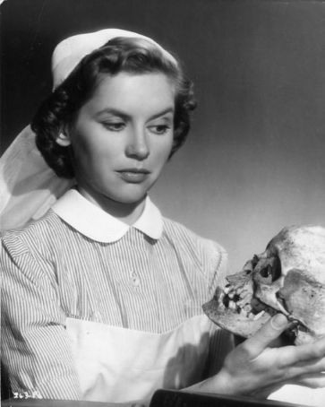 Muriel Pavlow and friends, 'Doctor in the House', UK 1954.