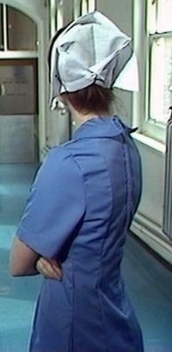 Staff nurse Debby Hope played by Catherine Whately in 'Return of the seve' episode, 'Auf Wiedersehen Pet', UK 1986